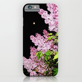 Lilacs at Night iPhone Case
