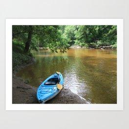 Peaceful Day Kayaking Art Print