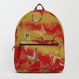 Red and Gold butterflies pattern Backpack