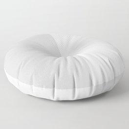 White and Light Gray Vertical Halves Floor Pillow