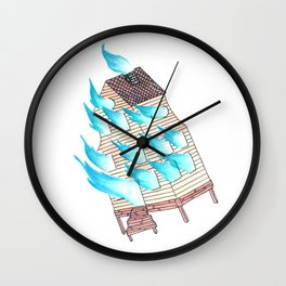 Burn Up, Not Down Wall Clock