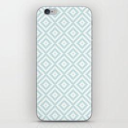 Aztec Block Symbol Ptn Blue & White II iPhone Skin