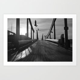 Port Vell Dawn Art Print
