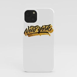 New York Black and Gold awesome lettering iPhone Case
