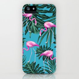 Summer Flamingo Jungle Vibes #2 #tropical #decor #art #society6 iPhone Case
