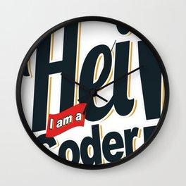 Programmer - Hei, i am a coder Wall Clock