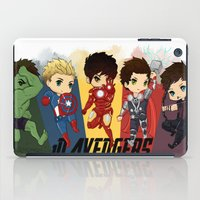 1d iPad Cases featuring 1D Avengers by RockitRocket