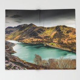 Llyn Peris Snowdonia Throw Blanket