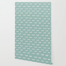 Mint Sleeping Eyes Of Wisdom - Pattern - Mix & Match With Simplicity Of Life Wallpaper