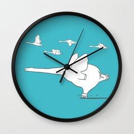 I'm like a swan Wall Clock