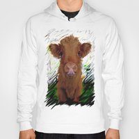 cow Hoodies featuring cow by Vector Art