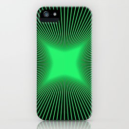 The Emerald Illusion iPhone Case