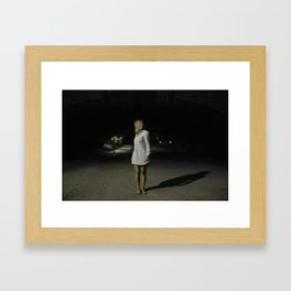 A night in Central Park Framed Art Print