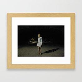 A night in Central Park Framed Art Print