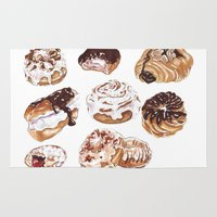 donuts Area & Throw Rugs featuring Donuts by heatherinasuitcase