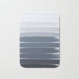 Tasli - ombre paint brushstrokes grey fade trendy dorm college home decor Bath Mat