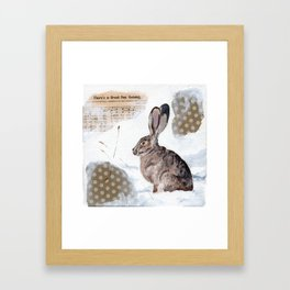 There's a Great Day Coming - Brown Rabbit Framed Art Print