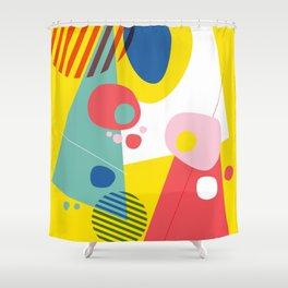 Abstract Pop III Shower Curtain