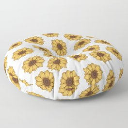 lil' anxious sunflowers Floor Pillow