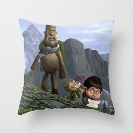 Big Foot Rescue Throw Pillow