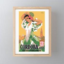 1955 Cordoba Spain May Festivals Travel Poster Framed Mini Art Print