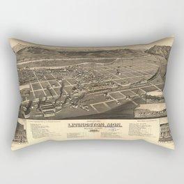 Bird's Eye View of Livingston, Montana (1883) Rectangular Pillow