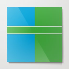 Team Color 6...Light blue,green Metal Print