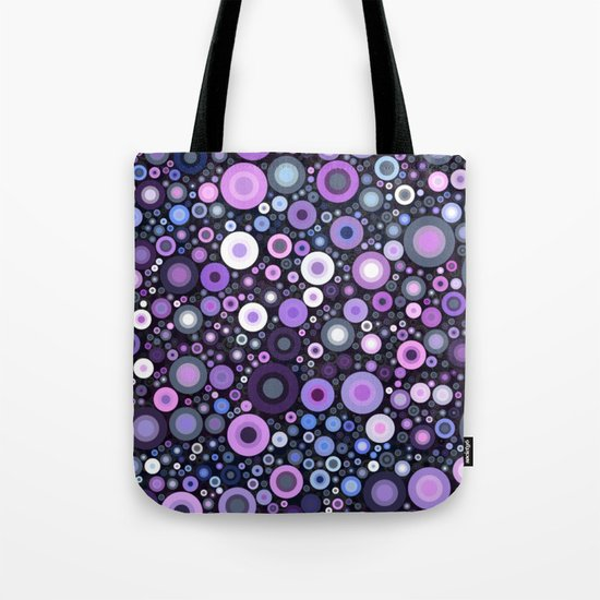 Lavender Bubbles at Midnight Tote Bag