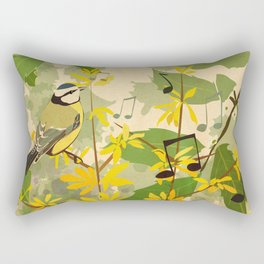 Blue Tit in Spring Rectangular Pillow