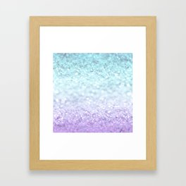 MERMAIDIANS AQUA PURPLE Framed Art Print