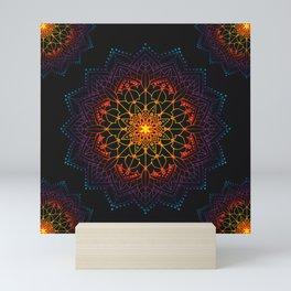 Mandala Shambala Spiritual Zen Bohemian Hippie Yoga Mantra Meditation Mini Art Print