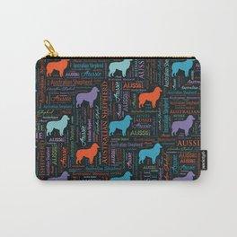 Australian Shepherd Aussie Word Art Carry-All Pouch
