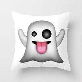 Ghost Emoji Throw Pillow