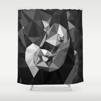 baby elephant Shower Curtains featuring Baby Elephant by Rama Patankar