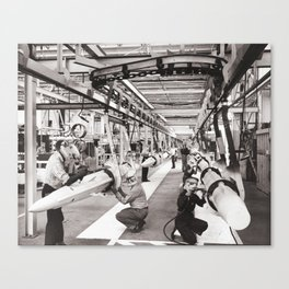 Star Wars factory Canvas Print