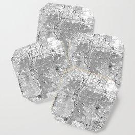 Denver White Map Coaster