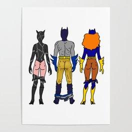 Superhero Butts Love 7 - Cat Bats Poster