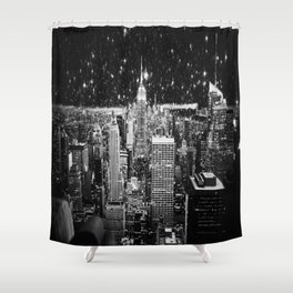 Starry Night in New York Shower Curtain