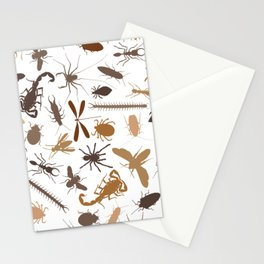Insect Beetle Dragonfly Scorpion Bug Collage Stationery Cards