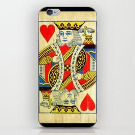 King Of Hearts Card Deck Old iPhone Skin