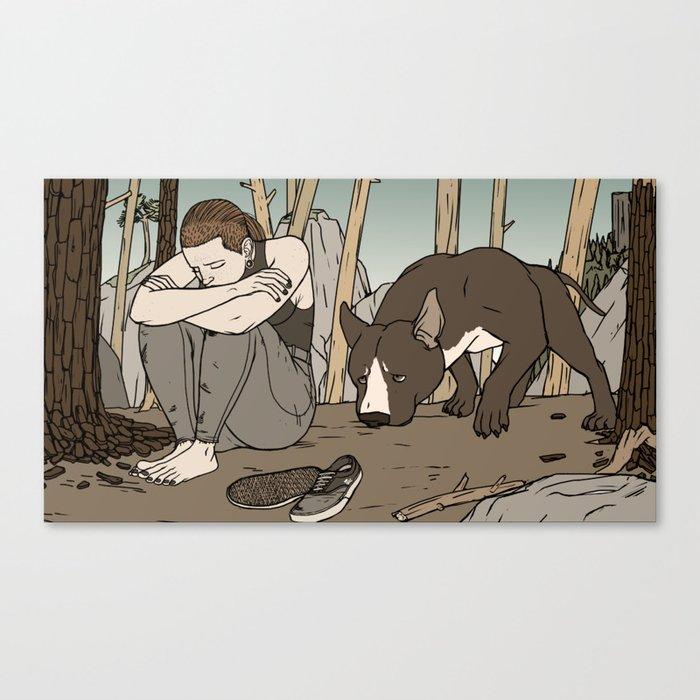 Dog bff Canvas Print