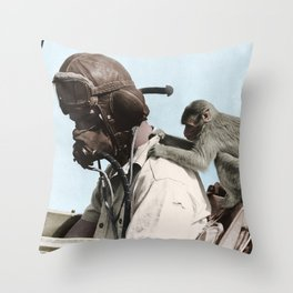 Colourised: North African Campaign Throw Pillow
