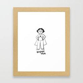 Super mom Framed Art Print