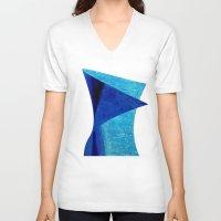 aqua V-neck T-shirts featuring Aqua by BruceStanfieldArtistPainter