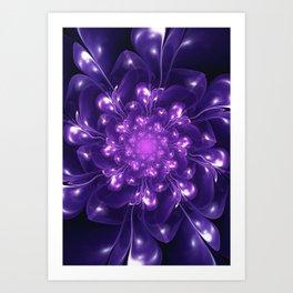 Serenity - Floral Bloom Fractal Art Print