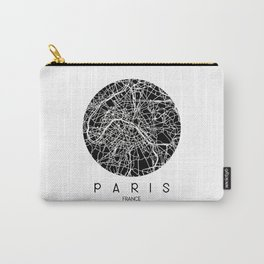 Paris Round Black Carry-All Pouch