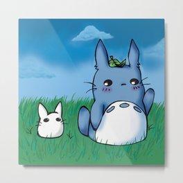Chibi Totoros Metal Print