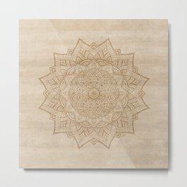 Sand Mandala Metal Print