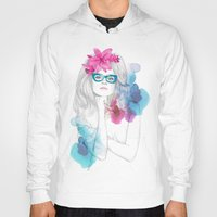 glasses Hoodies featuring Glasses by Camis Gray
