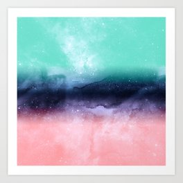 Modern watercolor abstract paint Art Print